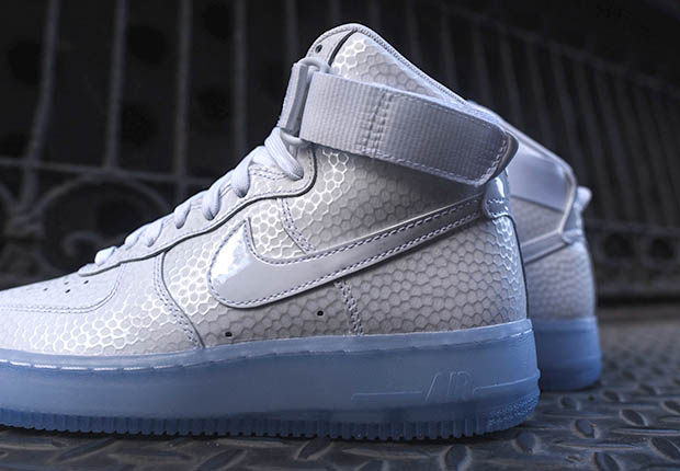 Icy Soles on the Nike Womens Air Force 1 High quotPearlquot best ... 52eb7cbf4