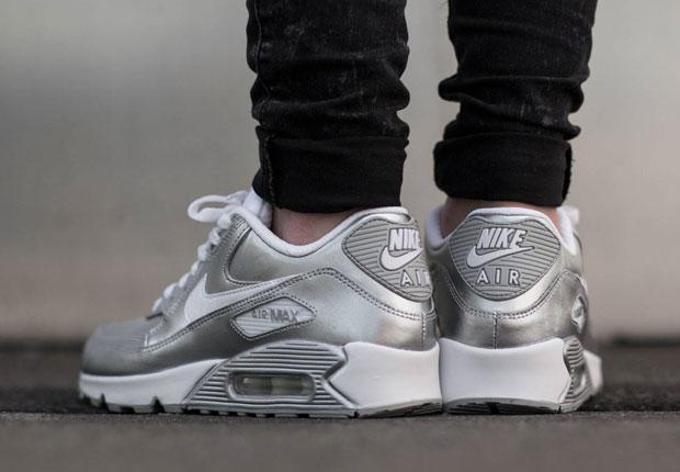 nike air max 90 gs quotmetallic silverquot sneakernewscom