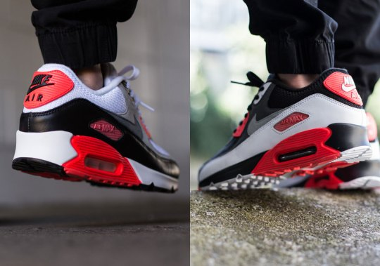 """A Comparison Of The Air Max 90 """"Infrared"""" and """"Reverse Infrared"""""""