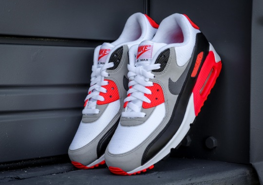 "Nike Caps Off 25th Anniversary Celebration Of Air Max 90 With ""Infrared"" Release"