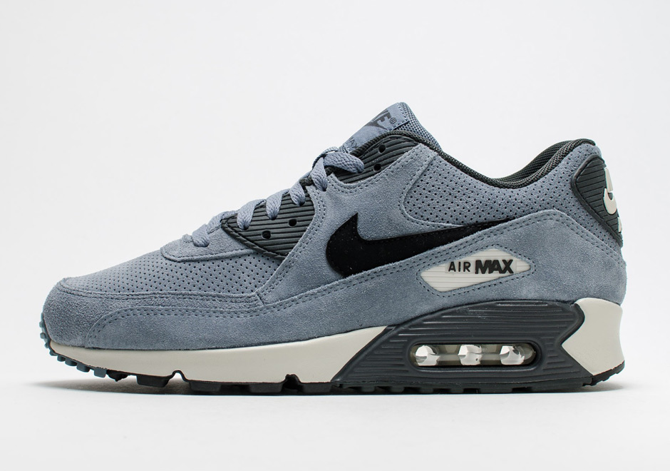 de989eaea4 The Nike Air Max 90 Goes Premium with Perforated Suede Upper -  SneakerNews.com