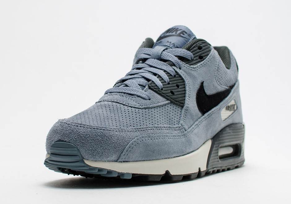 The Nike Air Max 90 Goes Premium with Perforated Suede Upper -  SneakerNews.com 469195ef4329