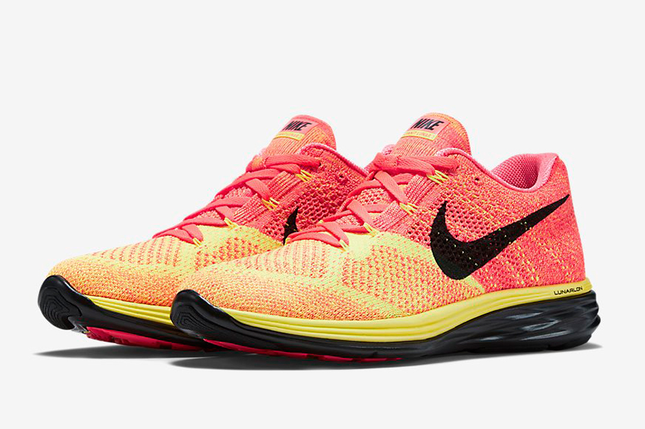 wide varieties release date: genuine shoes Nike Flyknit Lunar 3 - Hot Lava - Laser Orange - Black ...