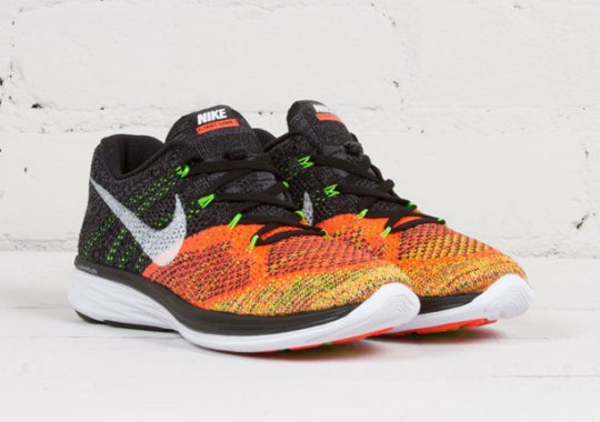 The Men's Multi-Color Version of The Nike Flyknit Lunar 3 Has Returned