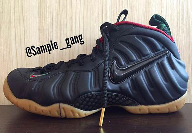 Nike Air Foamposite Pro Color  Black Gorge Green-Metallic Gold-Gym Red  Style Code  624041-004. Release  September b2cd0e768