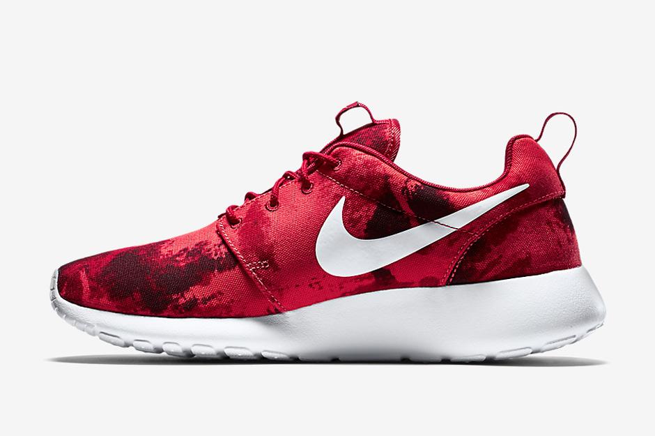 nike roshe one print gym red jordans