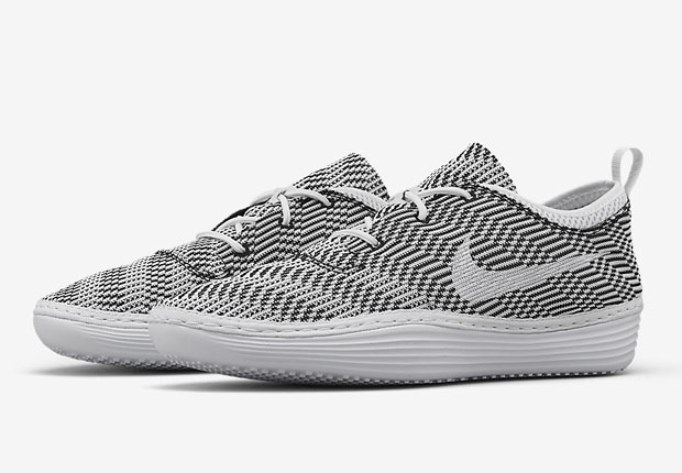 NikeLab makes sure you can travel in style this summer with the Solarsoft  Costa Jacquard. The unique, slipper-like sneaker features a pliable mesh  jacquard ...