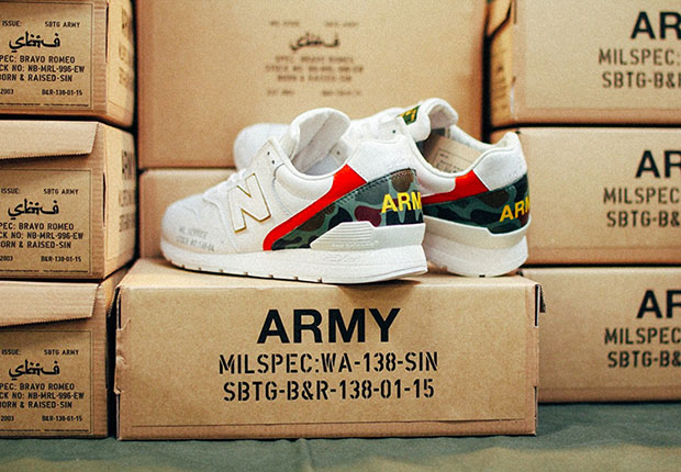 Each comes housed in a army surplus style custom box. Pairs are available  now at the Born   Raised pop-up shop in Singapore. 5415ffa60610