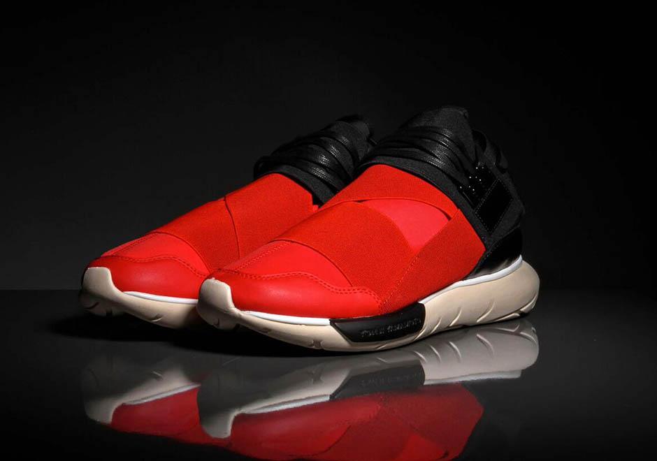 1a39658ffc00c adidas Y-3 Qasa High - Red - Black - SneakerNews.com