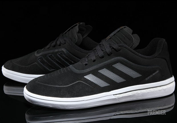 new product ac019 6db31 The Dorado ADV Boost debuts in this clean and simple black and white  colorway, and can be found arriving now at select adidas Skateboarding  stockists like ...