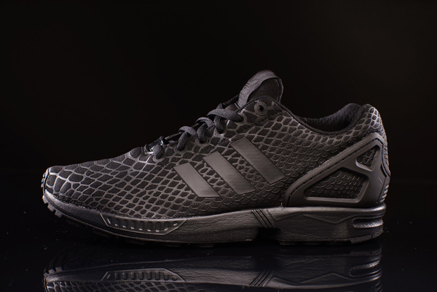 competitive price fc43e c7fd4 adidas Continues To Own Snakeskin With the ZX Flux Techfit - SneakerNews.com