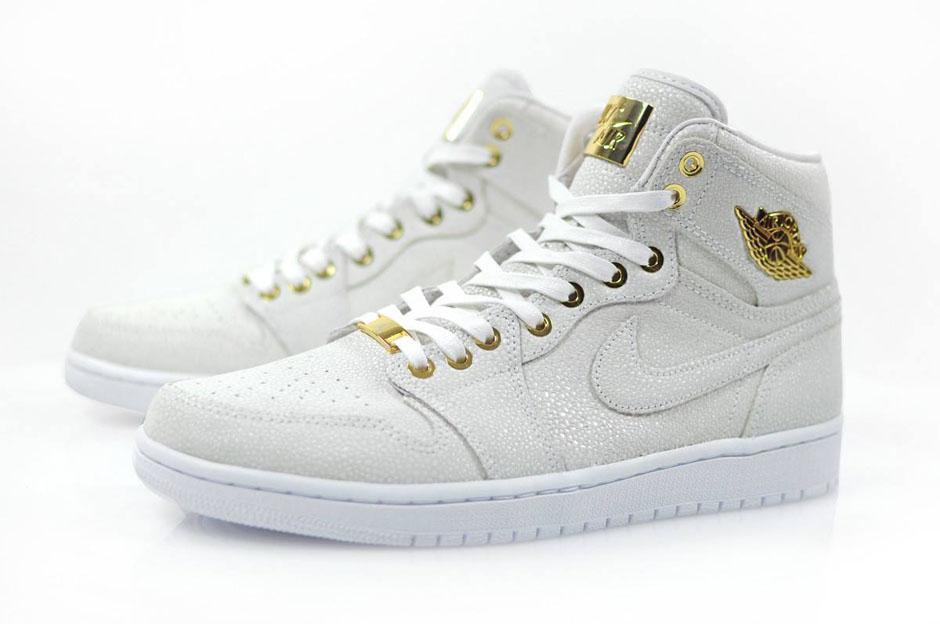 "The Air Jordan 1 ""Pinnacle"" in White Releases In Europe This Weekend ... 7bb5ac52f"