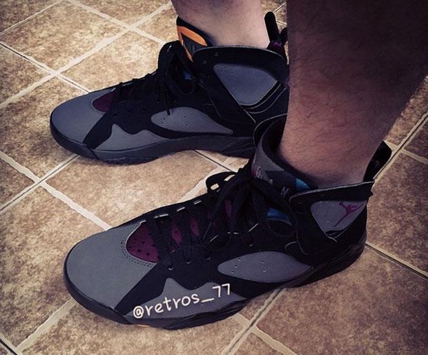 Air Jordan 7 Chaussures De Code De Style Bordeaux