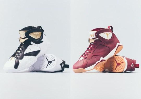"Air Jordan 7 ""Cigar & Champagne"" Pack Releases This Weekend"