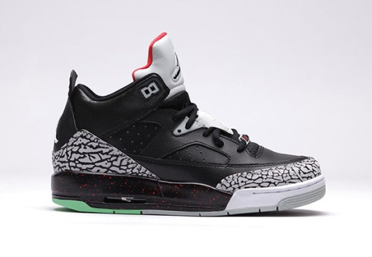 """The Jordan Son of Mars Low """"Black/Cement"""" For Kids Has An Added Detail"""