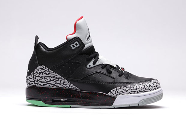 "6322376963d The Jordan Son of Mars Low ""Black/Cement"" For Kids Has An Added"