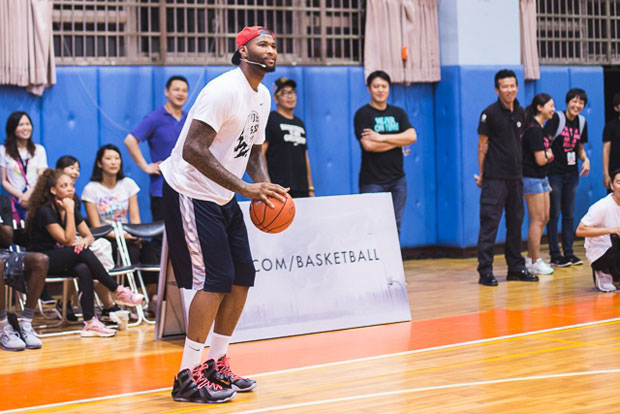 Boogie Cousins Getting His Shine On At The Nike RISE Tour in Taiwan