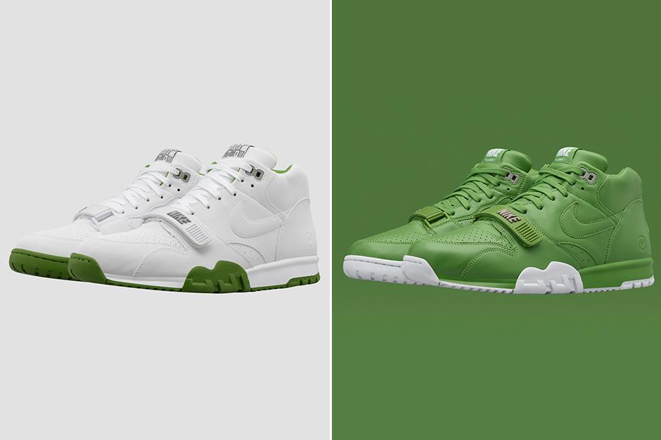 "online retailer feeae 115c9 fragment design x Nike Air Trainer 1 ""Wimbledon"""
