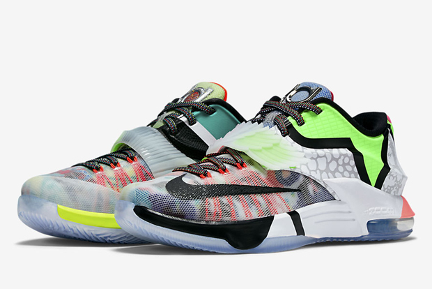 """Nike """"What The"""" KD 7. Color  Multi-Color Black Horizon Style Code   801778-944. Release Date  06 20 15. Price   200 db8968ba7"""