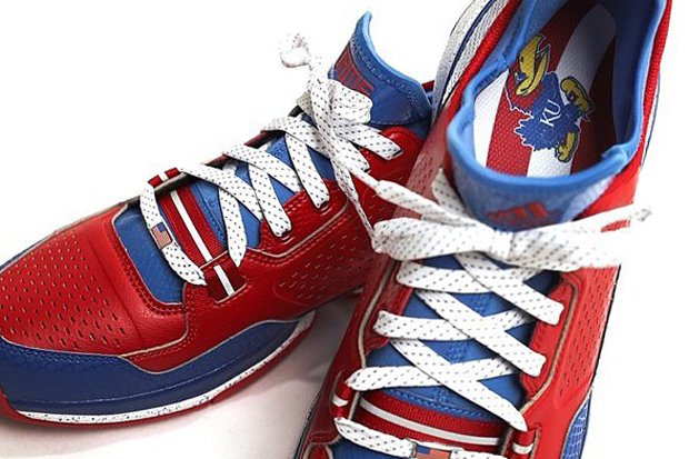 the latest 483f2 7ae00 adidas D Lillard 1 PE For Kansas Jayhawks - SneakerNews.com