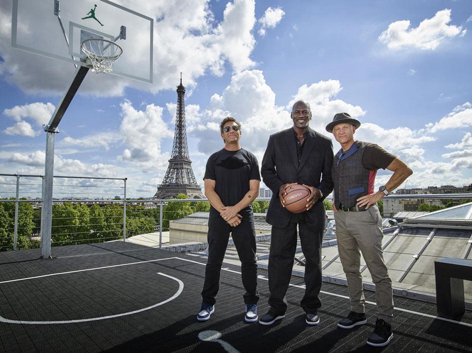 Michael Jordan, Tinker Hatfield, and