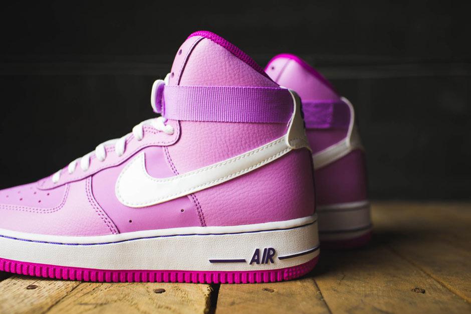 pink nike air force 1 high top