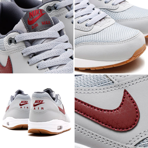 Nike Air Max 1 Essential Wolf GreyTeam Red