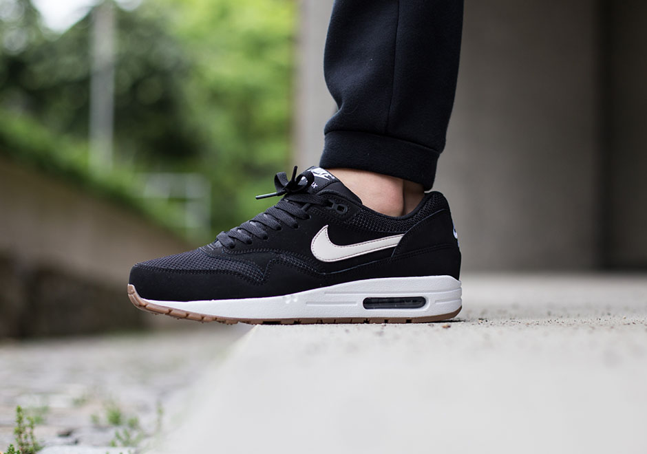 Zapatillas Nike Air Max 1 De Las Mujeres Negras Blancas Esenciales oBXB6rKo