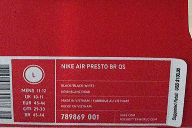 authentic nike air presto br qs sizing 56806 0e55f