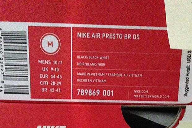 Air Presto Size M