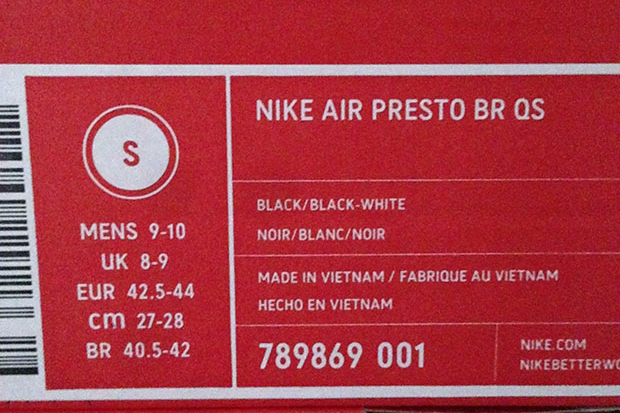 differently cfc86 9c90a Sizing Info For The Nike Air Presto - SneakerNews.com