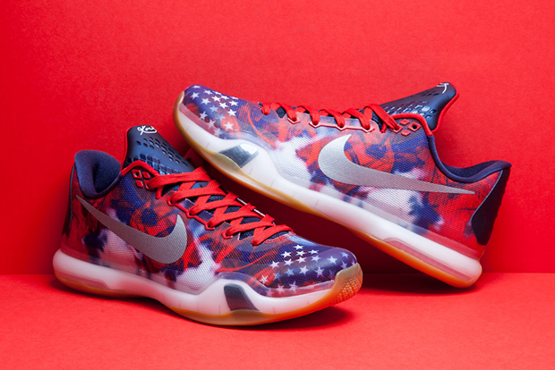 "big sale 43572 218ce ... Kobe 10 ""USA"" Nike Basketballs ""Independence Day"" Collection Arrives  Tomorrow ..."