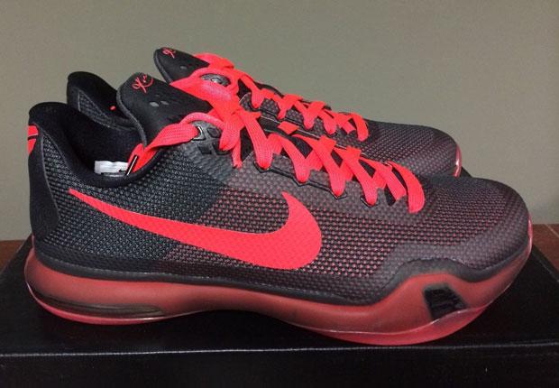 "innovative design 8a66d 3cfe8 Nike Kobe 10 ""Bright Crimson"" – Black – Red"