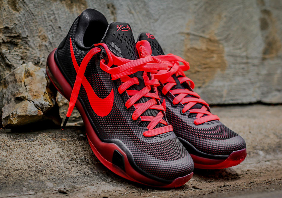nike mens training shoe all red kobes