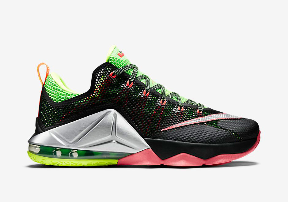 Upcoming Nike Lebron 12 Low Combines Volt And Hot Lava