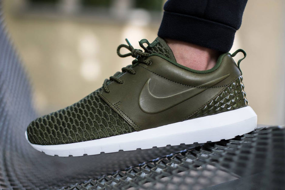 414fb879d86b cheap Leather and Flyknit Build Brings Style To The Nike Roshe Run ...