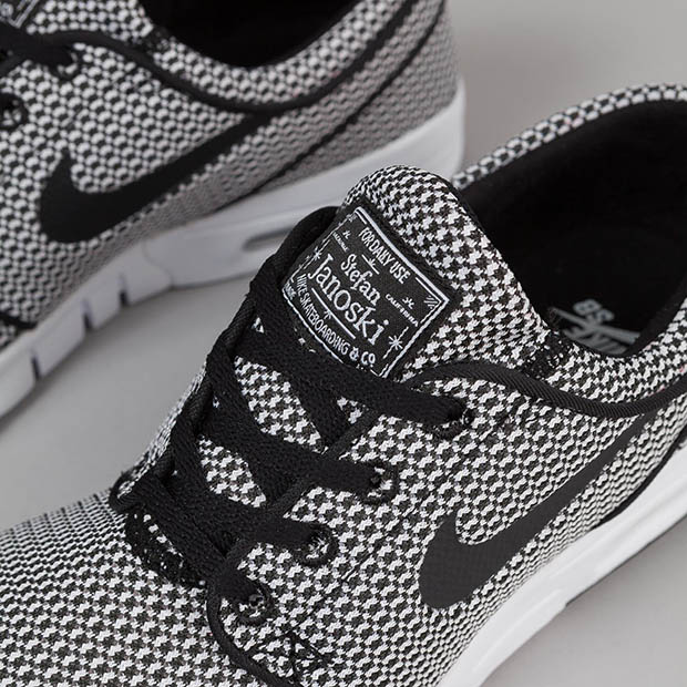 Black and White Textiles On The Nike SB Stefan Janoski Max - SneakerNews.com 61caf3845f