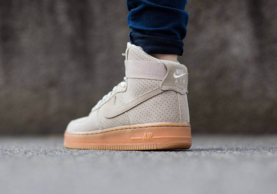 Perforated Suede And Gum Soles Invade The Nike Air Force 1