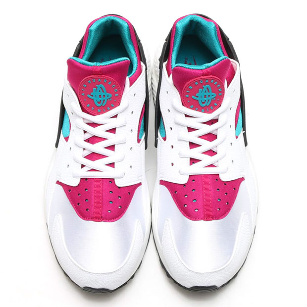 on sale f470d d4f5f Nike Air Huarache - White - Radiant Emerald - Sport Fuchsia -  SneakerNews.com