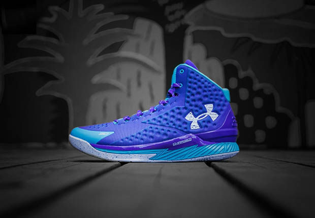under armour curry one purple white