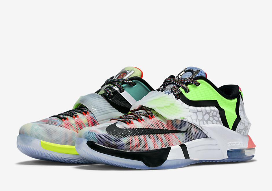 "The Nike ""What The"" KD 7 Revisits The Lightning Theme With 18 Different Details"