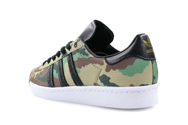 adidas superstars with camo stripes