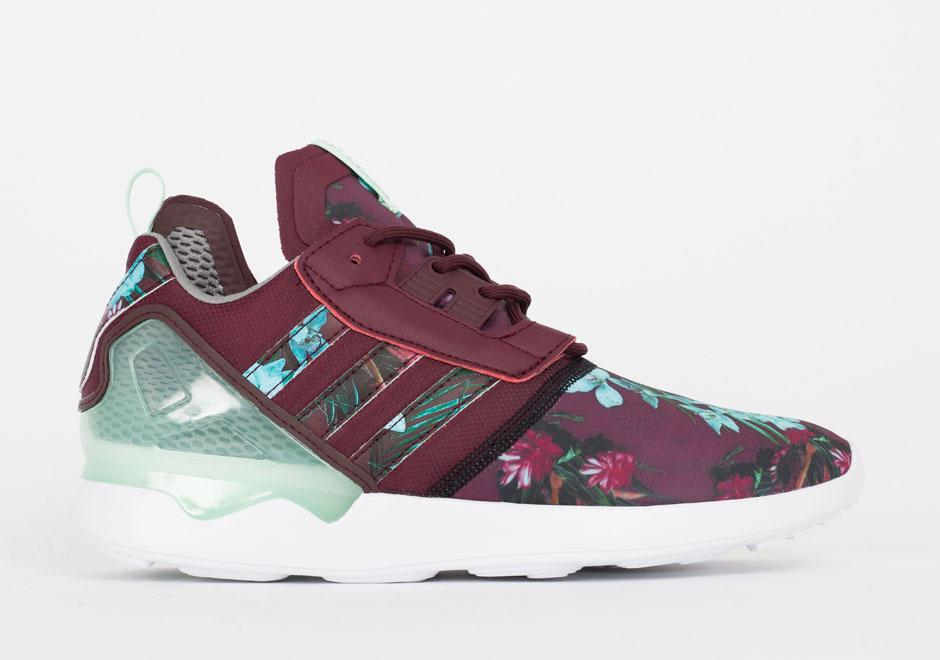 flower print adidas sneakers