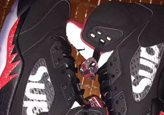 Here's The Second Supreme x Air Jordan 5
