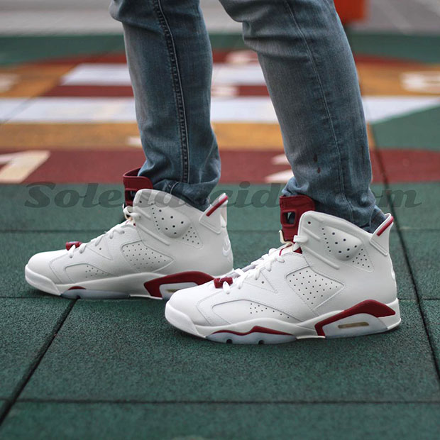 890b5230d0f9 low-cost Air Jordan 6 quot Maroonquot On Feet Images - molndalsrev.se
