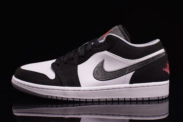 Nike Air Jordan 1 Bassa Bianco Nero yPGviPrq