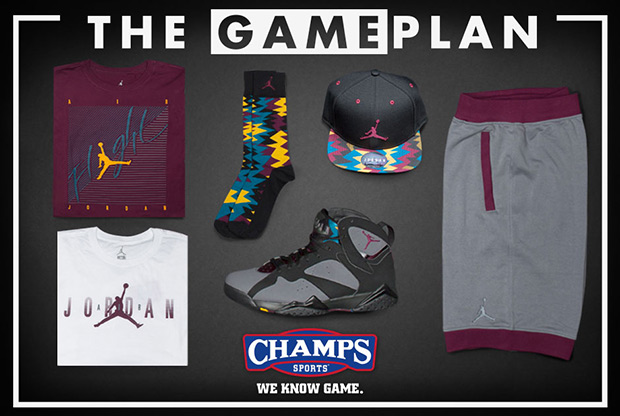 cheap for discount 9bcc0 f7bc8 The Game Plan by Champs Sports  Jordan Bordeaux Collection