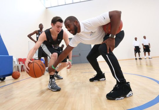 "Chris Paul Joins NBA In Africa With Air Jordan 6 Low ""Black/Chrome"""