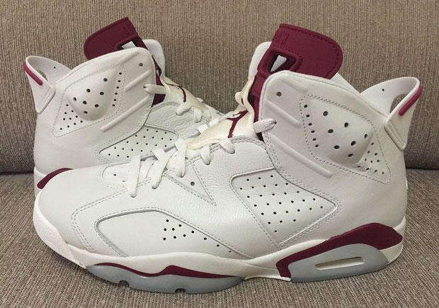 "Yes, it's been twenty four years since the Air Jordan 6 ""Maroon"" hit stores. But we're a lot more pleased with a feature of the shoe rather than the shoe ..."