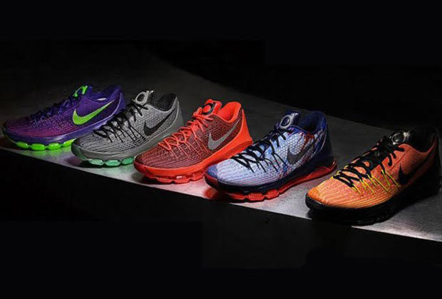 """competitive price c50d4 1e7bd First Look At Nike KD 8 """"Hunt s Hill Sunrise"""", """"Suit"""" And More"""